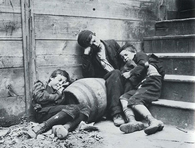 """How the Other Half Lives""    Photo by Jacob Riis"
