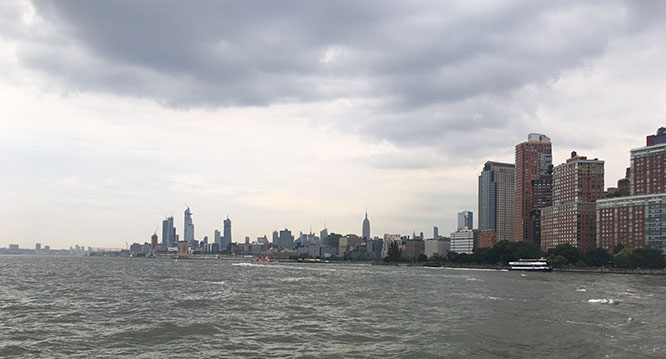 The Hudson River off Battery Park City