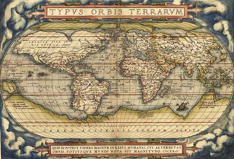 Theatrum Orbis Terrarum (Theatre of the World) is considered to be the first true modern atlas.